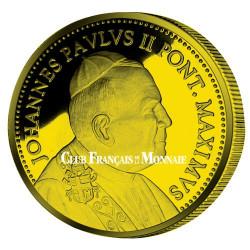 Pape Jean-Paul II doré