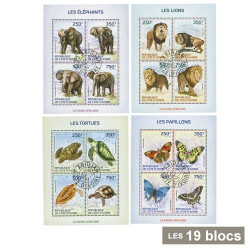 19 blocs Faune Africaine*