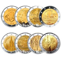 Lot des 8 x 2 Euro Espagne