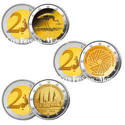Lot des 3 x 2 Euro Lettonie 2014-2015