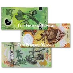 3 billets Papouasie Nouvelle Guinée 2008