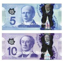 Lot de 2 billets Canada 2013