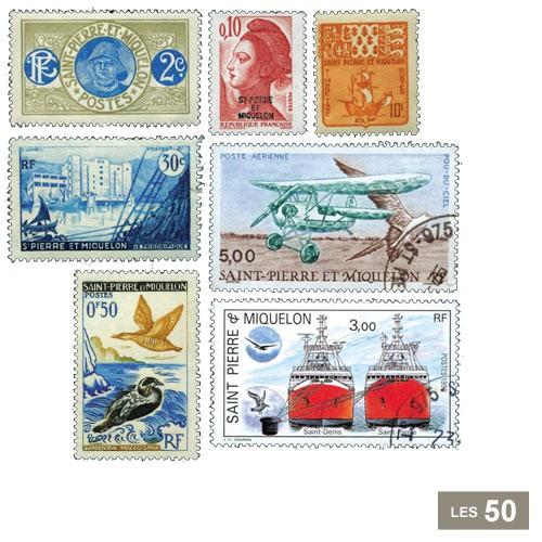 50 timbres Saint-Pierre-et-Miquelon