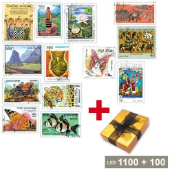 1100 timbres Péninsule Indochinoise + 100 timbres Malaisie OFFERTS