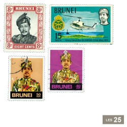 25 timbres Brunei