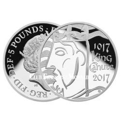 5 Livres Argent Royaume-Uni BE 2017 - 1000 ans Knut le Grand