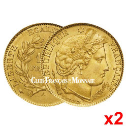 Lot de 2 pièces 10 Francs Cérès IIIème République