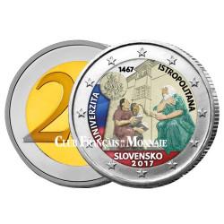 2 Euro Slovaquie 2017 colorisée - 550 ans de l'Université Istropolitana