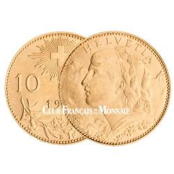 10 Francs Or – Demi Vreneli Suisse Helvetia