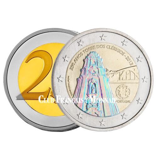 2 Euro Portugal Hologramme 2013 colorisée - Tour des Clercs Porto