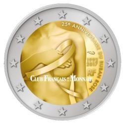 Lot 2 x 2€ France 2017 - 25 ans du ruban rose