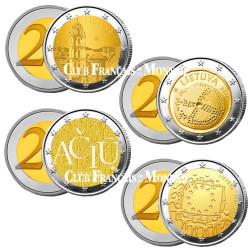 Lot des 4 x 2 Euro Lituanie 2015-2016-2017