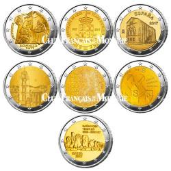 Lot des 14 x 2 Euro commémoratives 2017