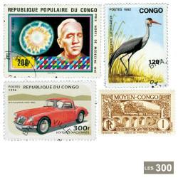 300 timbres Congo français