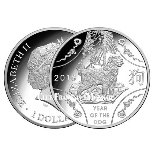 1 Dollar Argent Australie BE 2018 - Année du Chien