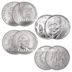Lot de 4 pièces de Francs commémoratifs