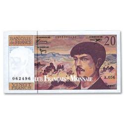 Billet 20 Francs Debussy