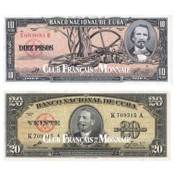 Lot de 2 billets 1960