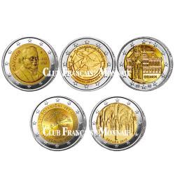 Lot des 10 x 2 Euro commémoratives 2010