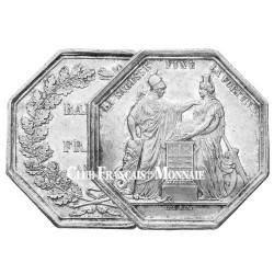 Jeton Argent Banque de France An VIII - La Sagesse fixe la Fortune