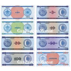 Lot de 8 billets Cuba