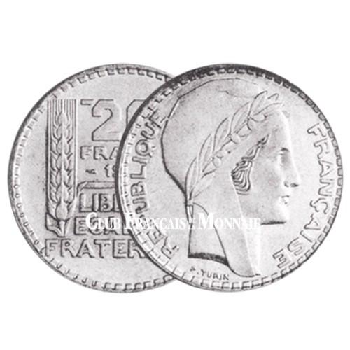 20 Francs Argent Turin 1934