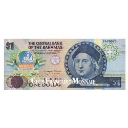 1 Dollar Bahamas 1992 - 500 ans de la découverte de l'Amérique