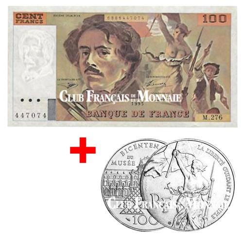 Lot billet + monnaie Delacroix