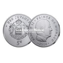 2008 - Monaco 5 Euro Argent BU Albert II