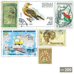 200 timbres Madagascar