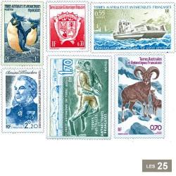 25 timbres Terres Australes françaises