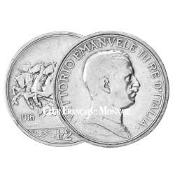 2 Lires Italie 1914-1917 - Victor Emmanuel III