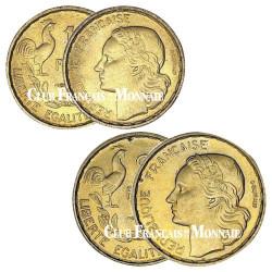 Lot des 10 Francs et 20 Francs Guiraud 1951