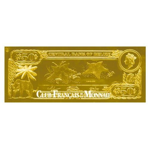 50 Dollars Belize 1984 - Étoile de mer