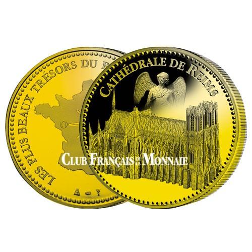 Cathédrale de Reims dorée à l'or fin 24 carats