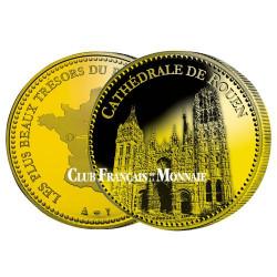 Cathédrale de Rouen dorée à l'or fin 24 carats