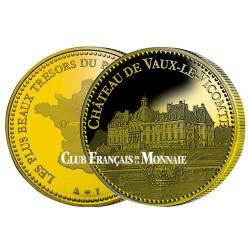 Château Vaux-Le-Vicomte dorée à l'or fin 24 carats