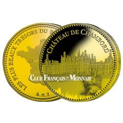Château  de Chambord dorée à l'or fin 24 carats