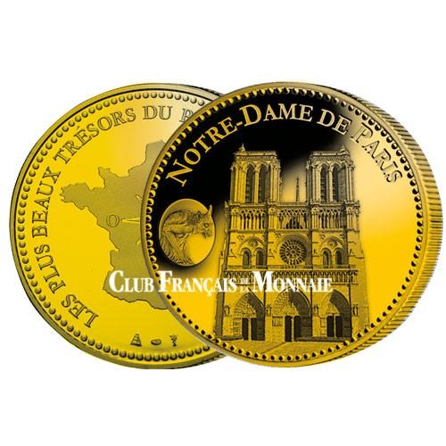 Notre dame  de Paris dorée à l'or fin 24 carats