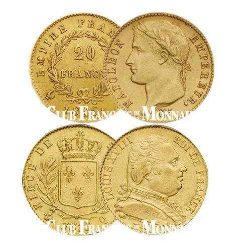 Lot des 2x20 Francs Or 1815 A