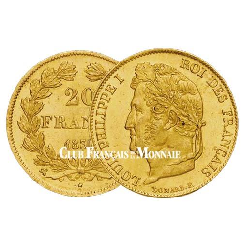 20 Francs Or Louis-Philippe 1830 A Tête Nue