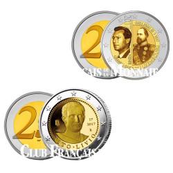 Lot de 2 x 2 Euro : Luxembourg 2017 et Italie 2017