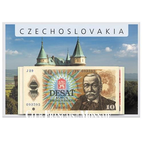 Lot de 4 billets Tchécoslovaquie