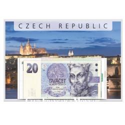 Lot de 4 billets  République Tchèque 1994-1998