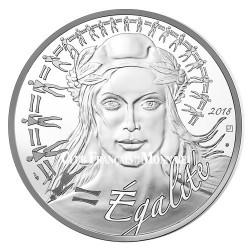 Lot de 3 x 20 Euro Argent France 2018 - Marianne Égalité