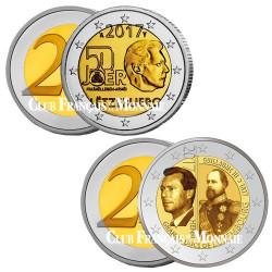 2 x 2 Euro Luxembourg 2017