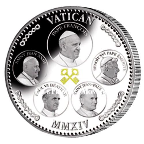 5 papes Vatican 2014 colorisée