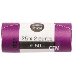 Le rouleau de 25 x 2 Euro France 2018