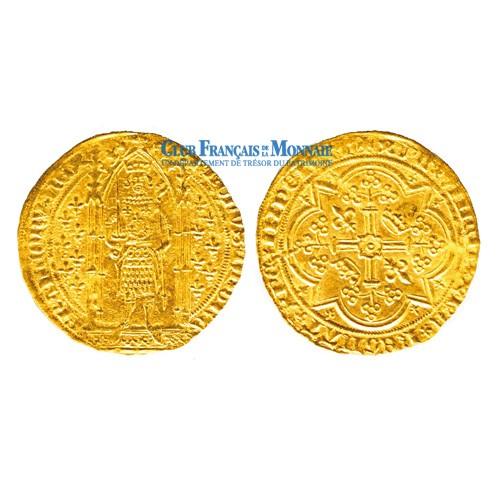 cu d'Or Charles V (1338 - 1380) Franc à pied