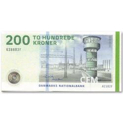Billet 200 Couronnes Danemark - Tour